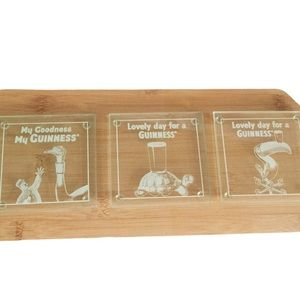 GUINNESS Collectible Glass Coaster Set Clear OS